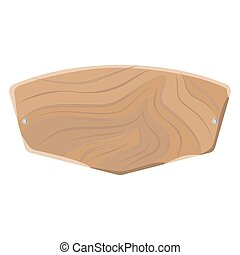 Light Wooden Cutting Board Isolated on White.