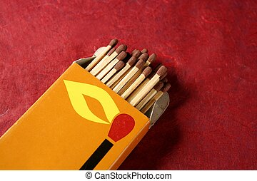 Light wooden matches arrangement