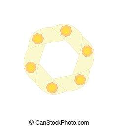 Light yellow icon, cartoon style