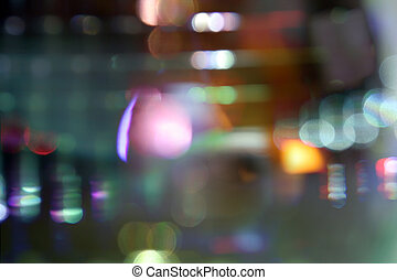 light zoom - light pattern created by zooming on a long...