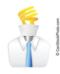 lightb, energia, poupar, homem idéia