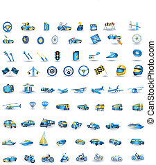 lightblue, transport, icônes