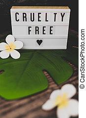 lightbox, cruauté, gratuite, produits, vegan, message, éthique