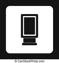 Lightbox icon in simple style