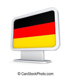 Lightbox with German flag.