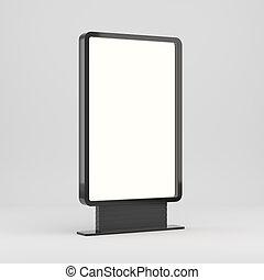 lightboxe, bianco, isolato, fondo