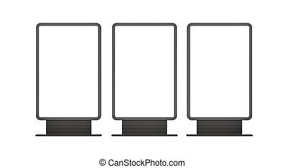 lightboxes, esterno, verticale, vuoto