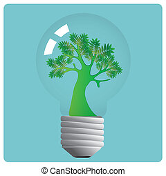 lightbulb, árvore