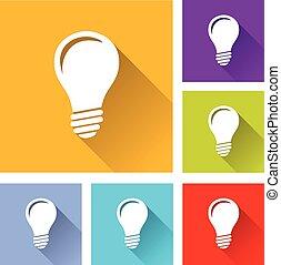 lightbulb, ícones