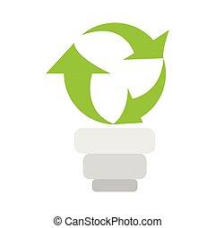 lightbulb , σύμβολο , ανακύκλωση