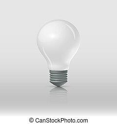 lightbulb, マット, 白い背景