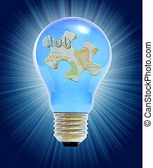 lightbulb, 困惑, 概念, ビジネス
