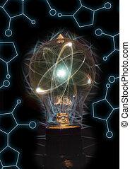 lightbulb, 微片, 原子
