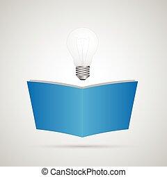 lightbulb, 本, イラスト