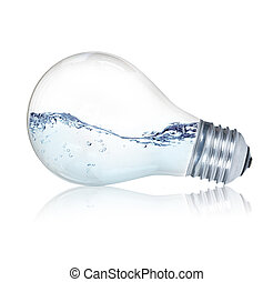 lightbulb, 水, 中