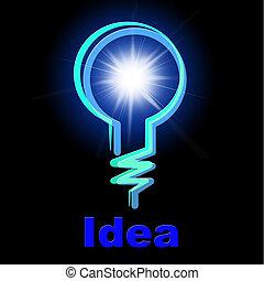 lightbulb, 表す, ライト, 創造性, 考え, 電球