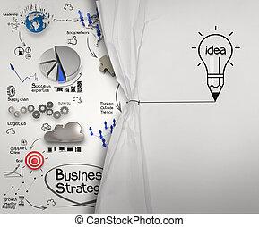 lightbulb, 鉛筆, ドロー, 概念, ビジネス, ショー, 作戦, ロープ, ペーパー, しわを寄せられた, ...