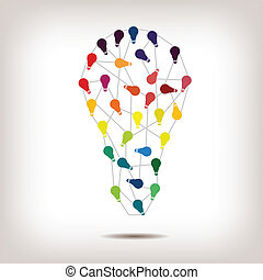 Lightbulb Abstract Design