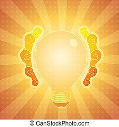 lightbulb, abstrakcyjny, tło