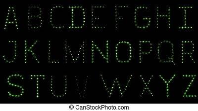 Lightbulb Alphabet. In focus. Flick - Alphabet made of real...