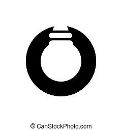 Lightbulb and Circle Logo Design, Letter O and Light Bulb Icon, Vector Illustration