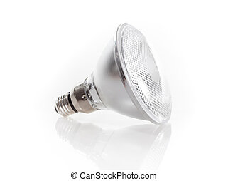 lightbulb, blanc, isolé, fond
