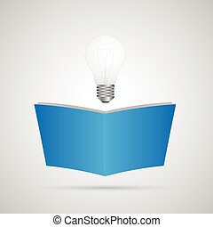 Lightbulb Book Illustration