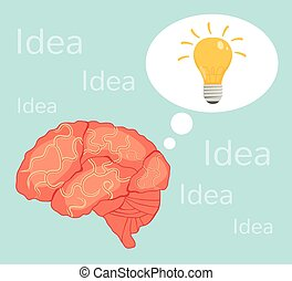 Lightbulb brain idea