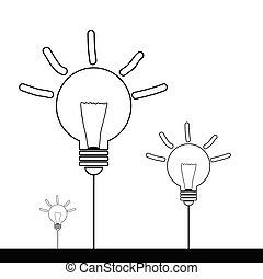 lightbulb cartoon vector illustration