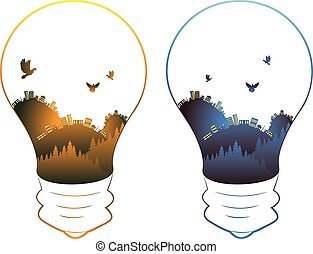lightbulb, cidade