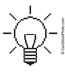 Lightbulb - computer icon, vector