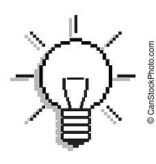 Lightbulb - computer icon, vector