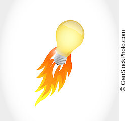 lightbulb, concept, idée, illustration