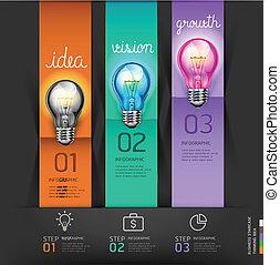 lightbulb, conceptual., negócio