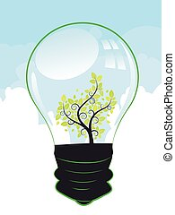 lightbulb, drzewo