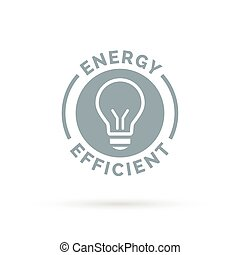 lightbulb, dygtig, energi, eco, ikon, symbol, design.