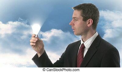 lightbulb, e, nuvens, 3