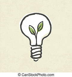 Lightbulb ecology concept. Vector illustration, EPS10