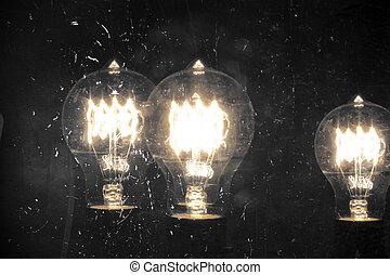 lightbulb, edison