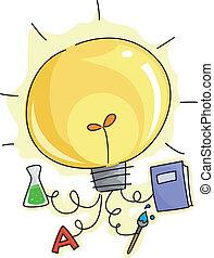lightbulb, education, idées