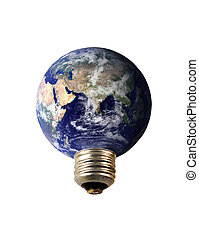 lightbulb electricity - an electrical earth lightbulb...