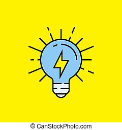 lightbulb, energi, beklæde, ikon