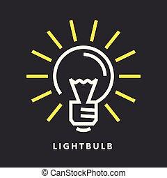 lightbulb, energi, elektriske, ikon