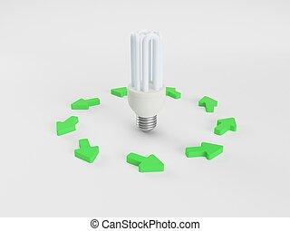 lightbulb, flèche