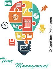 lightbulb, forma, affari, infographics