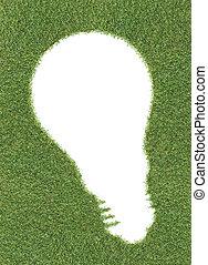 lightbulb, forme, herbe