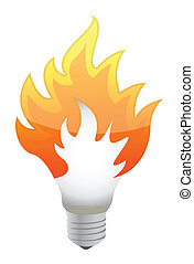 lightbulb, fuoco