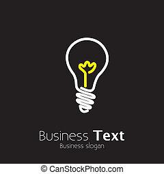 lightbulb, graphic., idee, helder, vernieuwend, het...