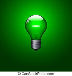 Lightbulb - Green lightbulb design. Available in both jpeg...