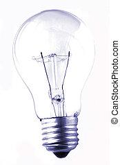 Lightbulb Grunge - Lightbulb isolated on white in grunge...